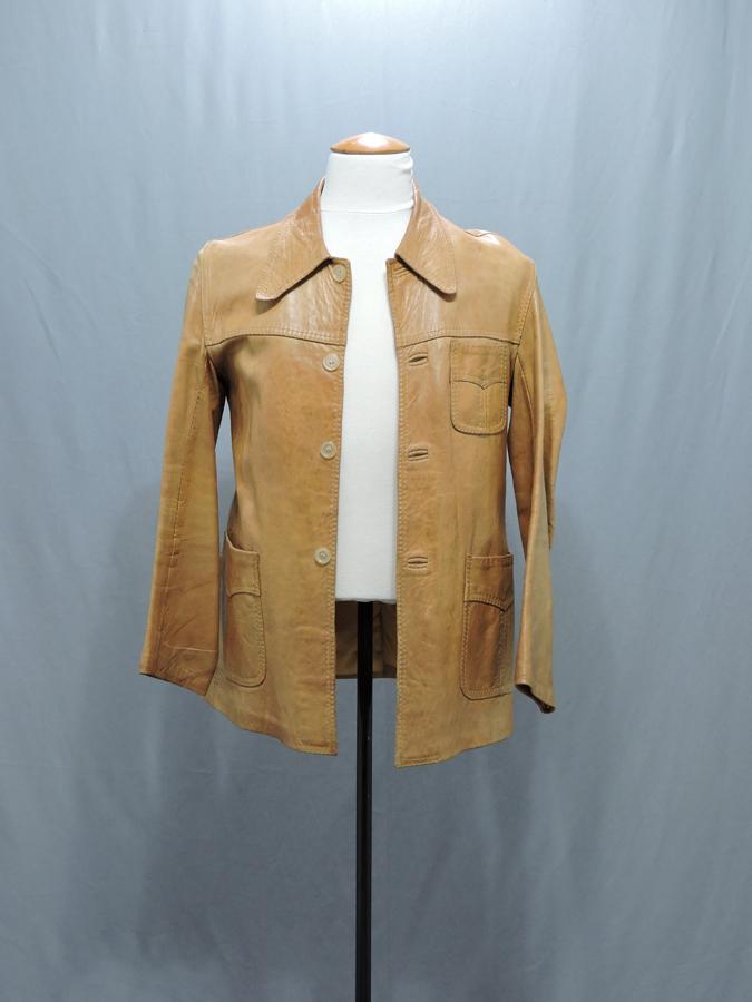 veste cuir clair